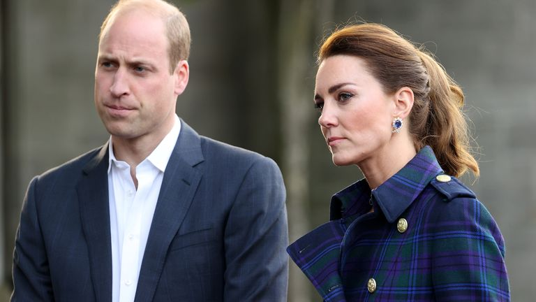 The Duke and Duchess of Cambridge at a drive-in cinema with NHS Charities Together at the Palace of Holyroodhouse, Edinburgh to watch a special screening of Disney's Cruella. Picture date: Wednesday May 26, 2021.