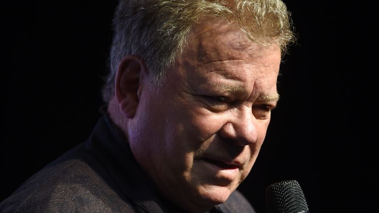 Shatner is pictured in 2016