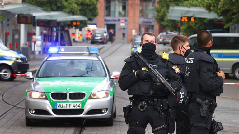 The suspect is said to have been overpowered by police on Friday Pic: AP