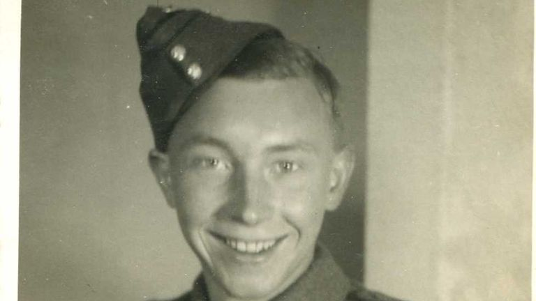Walter in uniform - he signed up aged 19 in 1941