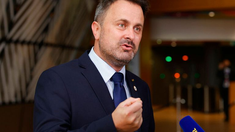 Luxembourg's Prime Minister Xavier Bettel, who is openly gay, said: 'Being gay is not a choice' Pic: AP