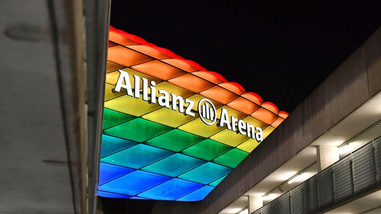 UEFA denied a request from the German Football Association and Munich's mayor for the Allianz Arena to be lit up in rainbow colours for the game against Hungary