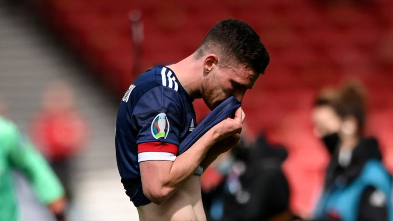 Scotland were left frustrated after drawing a blank in their Euro 2020 opener