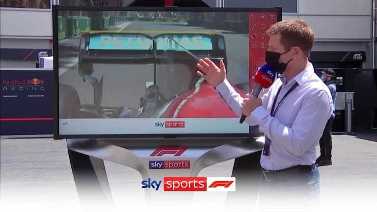 Anthony Davidson was at the SkyPad to compare and contrast the Red Bull and Mercedes in the limbo rear wing debate on Friday