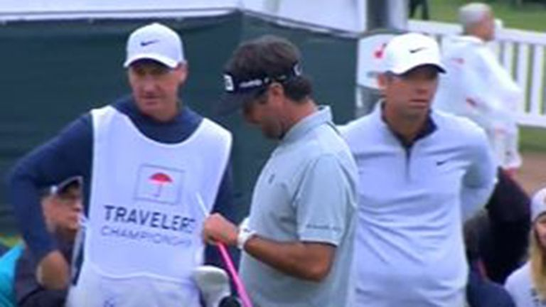 Bubba Watson's driver clubhead came flying off as he teed off at the second hole during his second round of the Travelers Championship. But he still hit it 295 yards ... and made birdie!