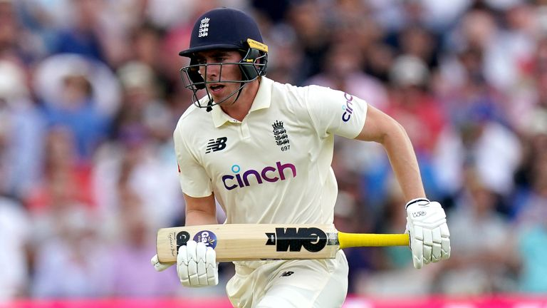 Dan Lawrence finished unbeaten on 67 to help England overcome their slump in the afternoon session