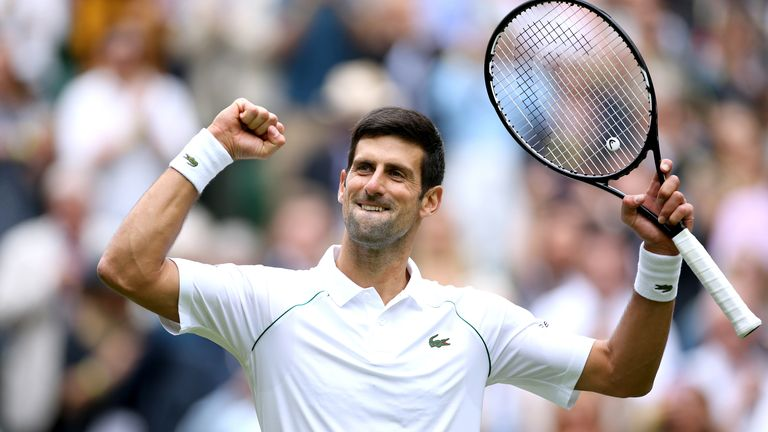 Djokovic continued his bid for a third consecutive Wimbledon title with a dominant second-round display