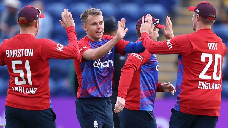 Action from England vs Sri Lanka