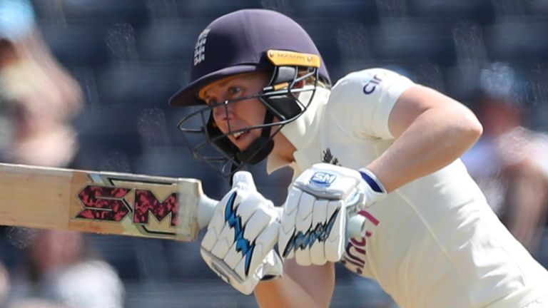BRISTOL, ENGLAND - JUNE 16: Heather Knight of England plays the ball away through midwicket on Day One of the LV= Insurance Test Match between England Women and India Women at Bristol County Ground on June 16, 2021 in Bristol, England. (Photo by Ashley Allen/Getty Images)