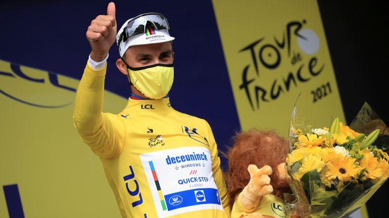 Julian Alaphilippe claimed stage one of the Tour de France on Saturday