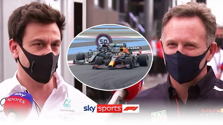 Il Team Principal della Mercedes Toto Wolff e il Team Principal della Red Bull Christian Horner commentano la splendida battaglia tra Lewis Hamilton e Max Verstappen al Gran Premio di Francia.