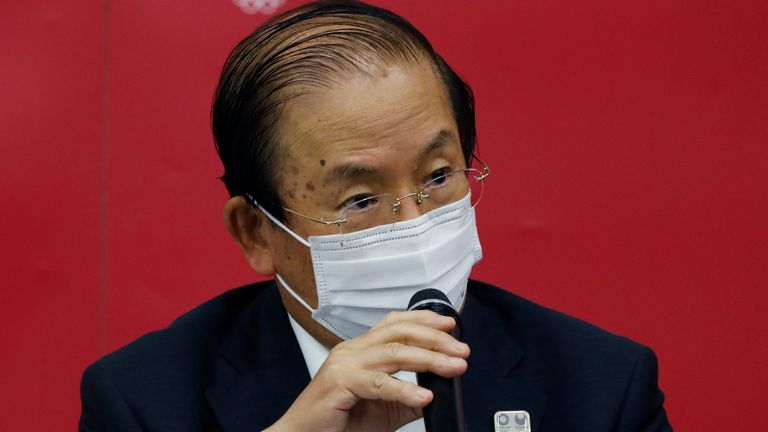 The head of the Tokyo Olympics organising committee, Toshiro Muto, has not ruled out a last-minute cancellation