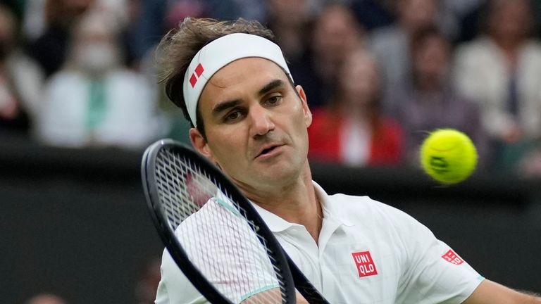 Federer is aiming for a ninth singles title at Wimbledon