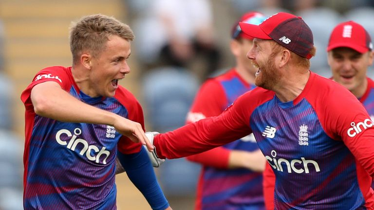 Sam Curran and Jonny Bairstow, second T20 international between England and Sri Lanka (PA Images)