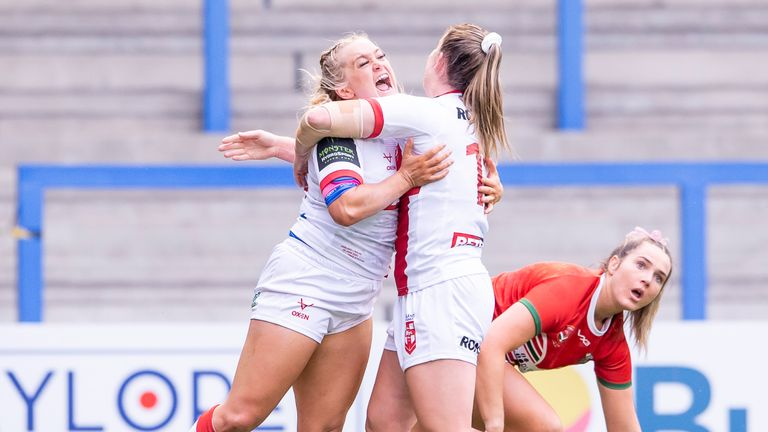 Highlights from Warrington as England faced Wales.