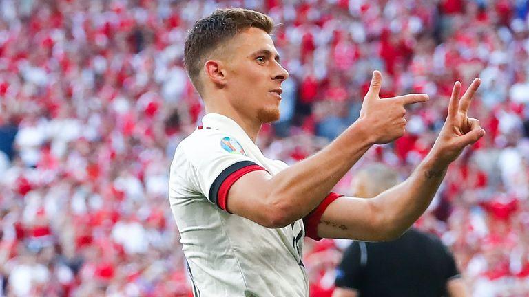 Thorgan Hazard draws Belgium level with Denmark