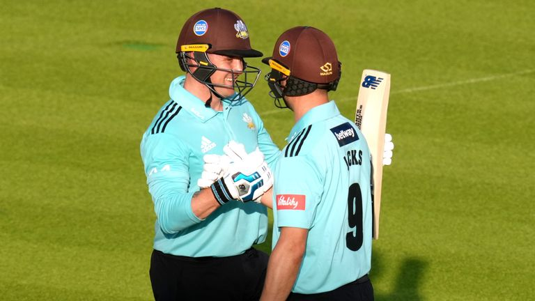 Surrey's Will Jacks hit 70 from just 24 balls, including five sixes, in a 54-run Vitality Blast win over Middlesex at Lord's
