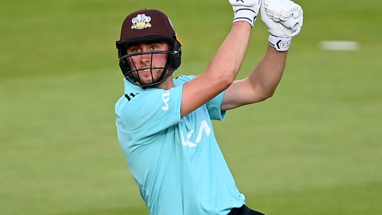Jacks hit a six onto the roof at Lord's during a six-laden innings against Middlesex