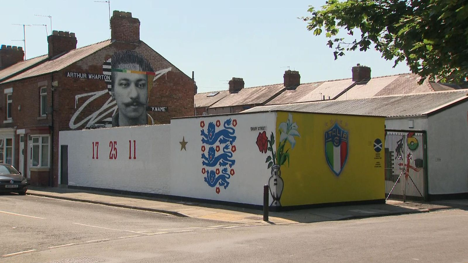 Mural for Saka, Sancho and Rashford defaced with racist message