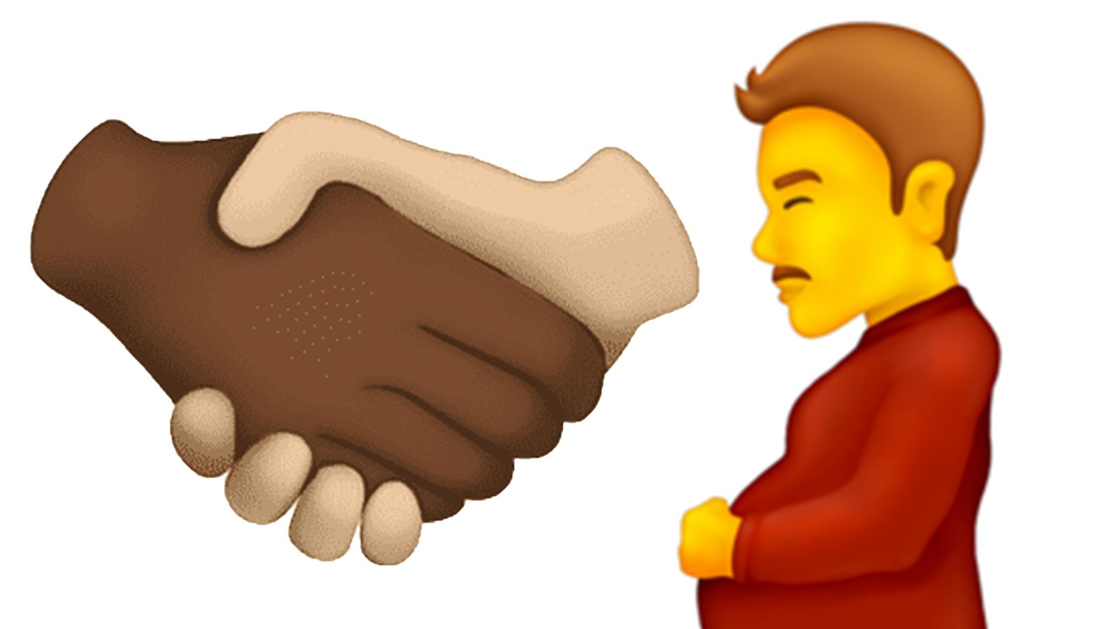 Pregnant man and multiracial handshake among new emojis being introduced this year