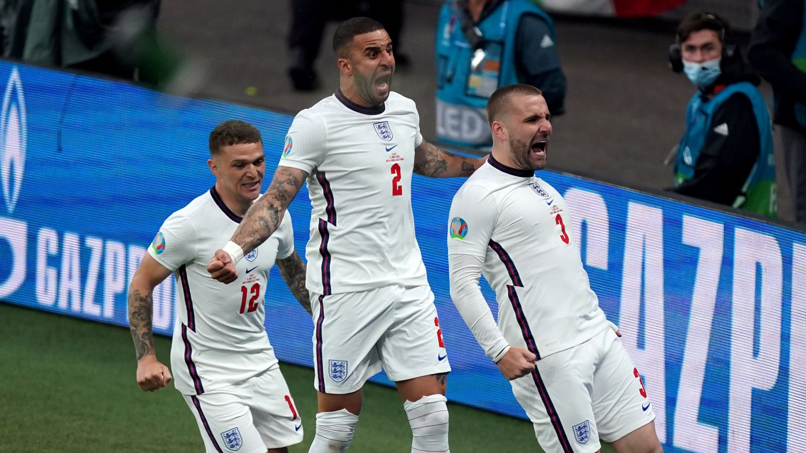 Euro 2020 final: England 1-0 up against Italy as Luke Shaw smashes home from close range