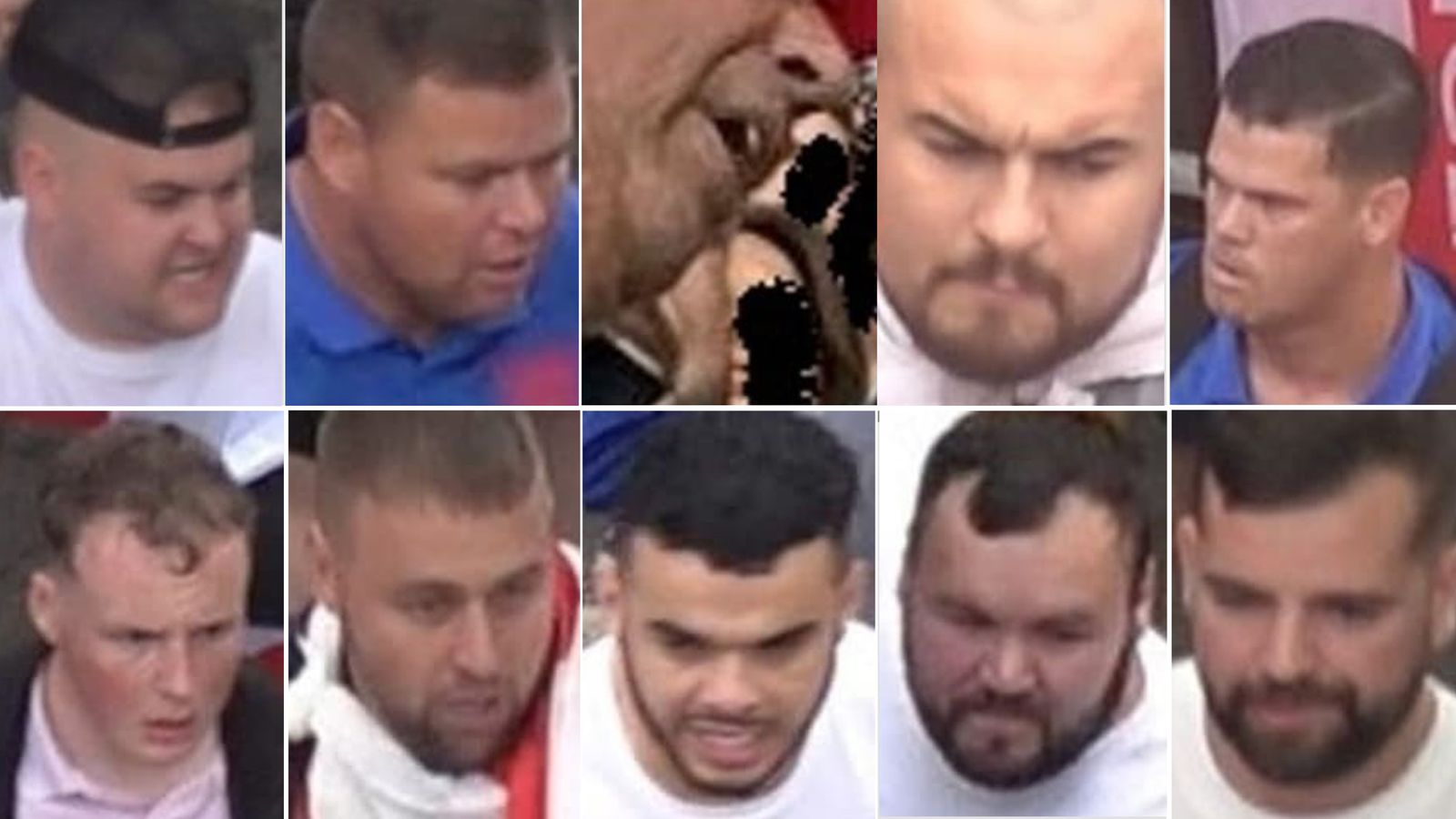 Euro 2020: Police release images of 10 men they are tracing over unrest before England v Italy final