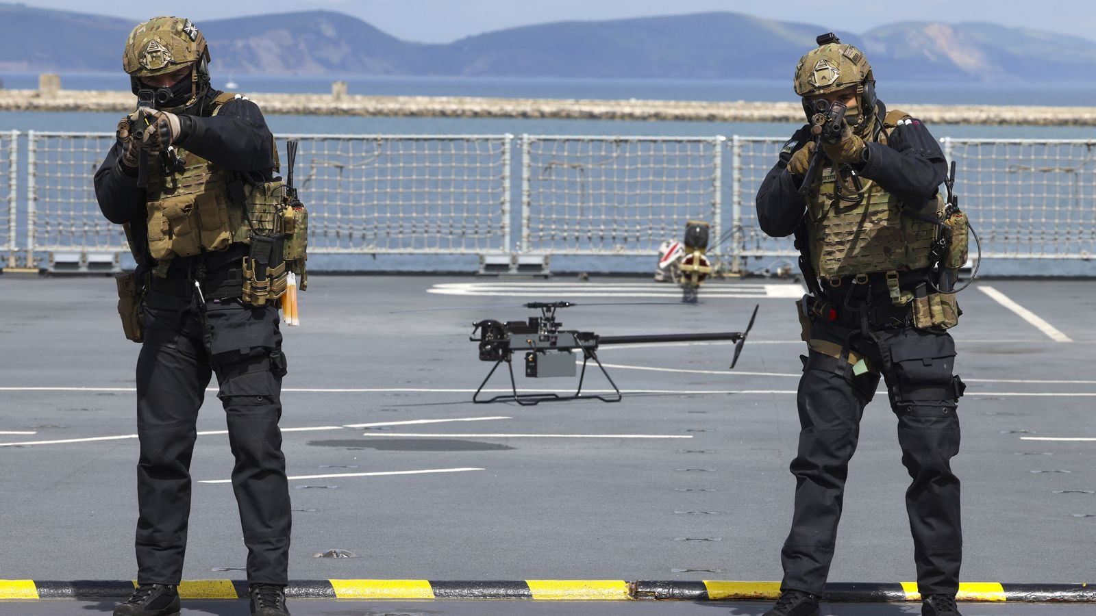 Royal Marines seek 'battlefield advantage' as they train with drone swarms in UK first