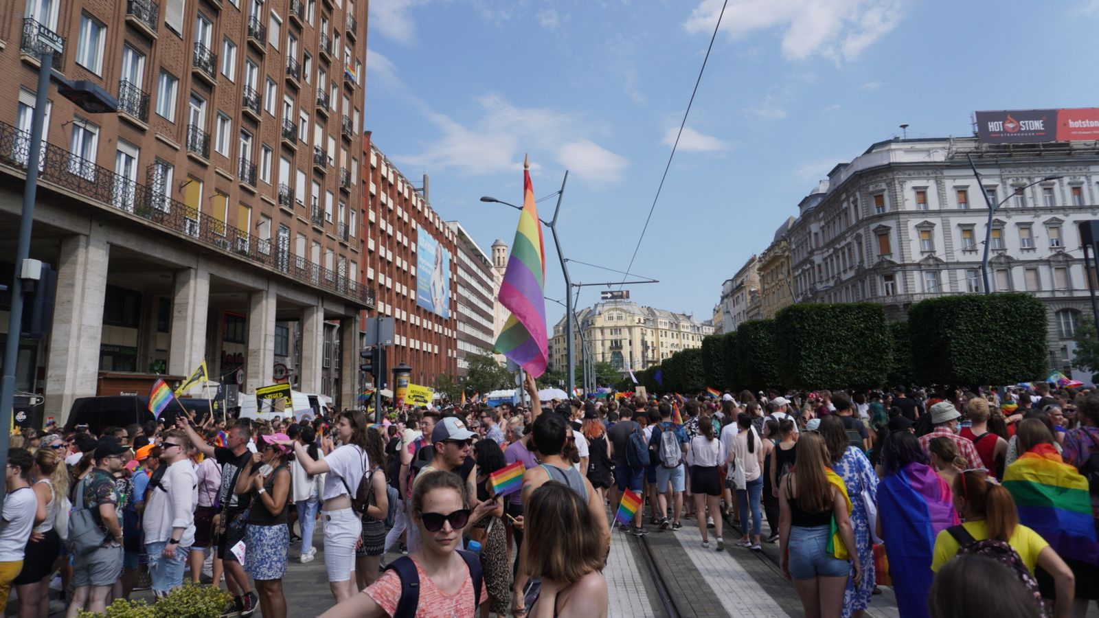 Budapest celebrates Pride as protesters hit back at Hungary's rules to restrict 'homosexual propaganda'