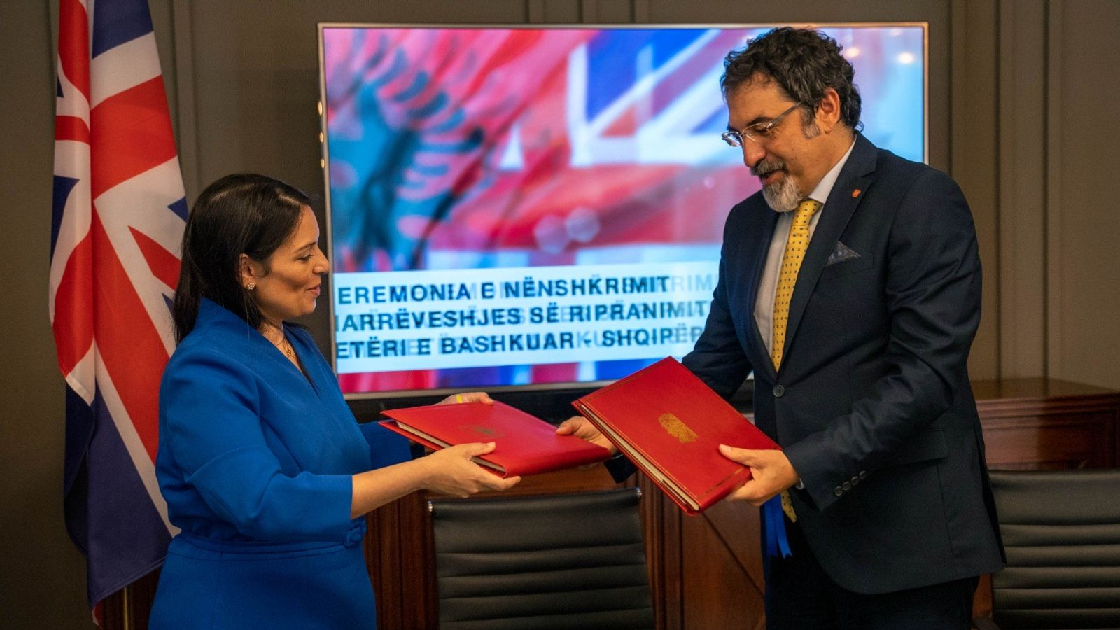 Priti Patel signs deal to remove Albanian criminals and unsuccessful asylum seekers from UK more quickly
