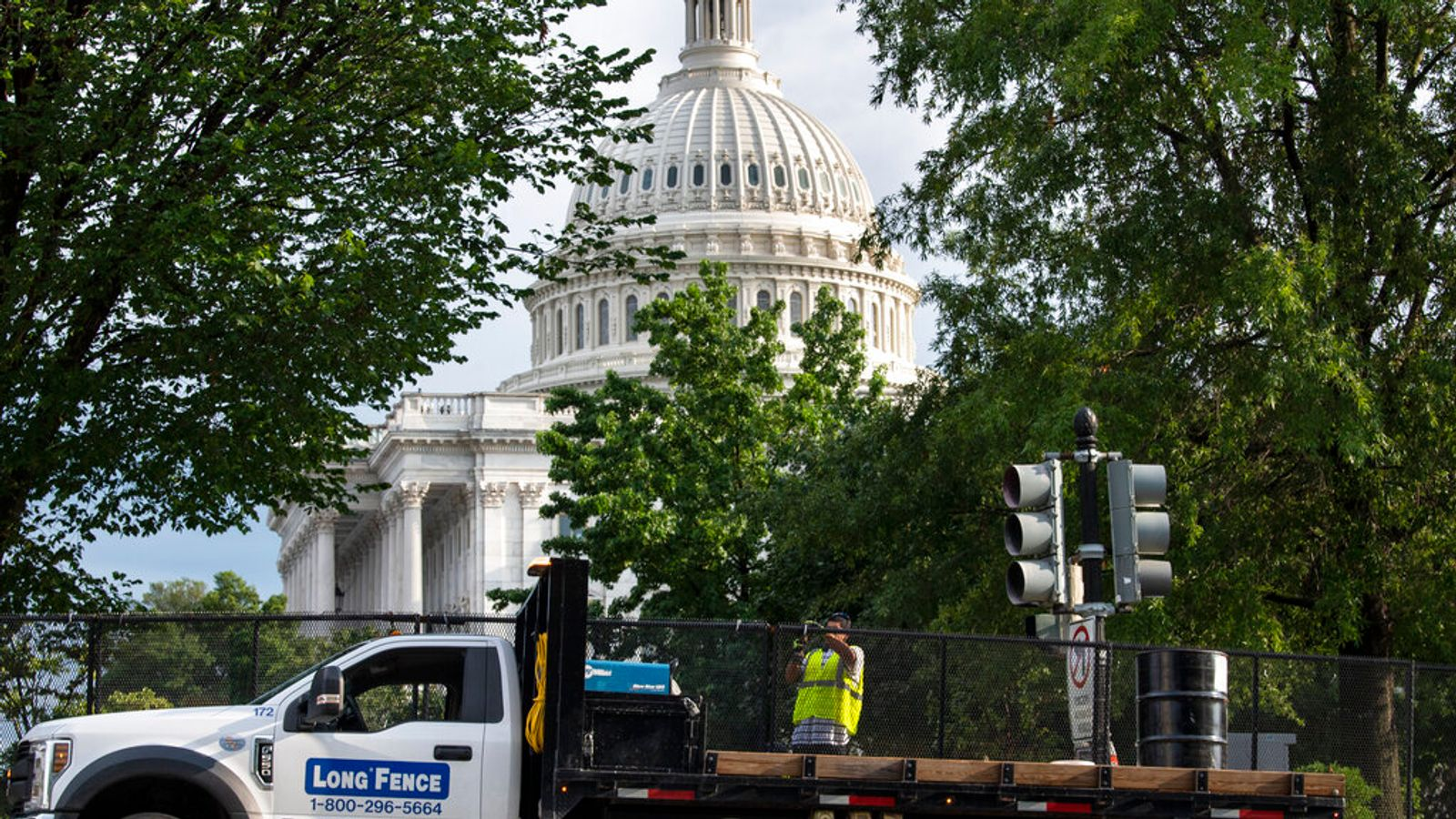 US Capitol riots: Workers remove last of security fence six months on from insurrection