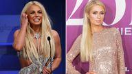 Britney Spears and Paris Hilton. Pic: Reuters/AP/zz/John Nacion/STAR MAX/IPx