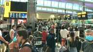 Queues mounted up at Heathrow as people had to show their COVID vaccine passes despite already checking in online