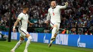 Luke Shaw scored a goal just before the two-minute mark