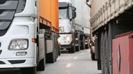 The risk for supermarkets is high according to the Road Haulage Association