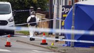 Police activity at the scene in Micklefield Road, High Wycombe, after a man in his fifties was found by police not breathing and surrounded by a group of males on the floor in Micklefield Road at the junction with Hicks Farm Rise - police commenced CPR immediately and called ambulance crews. A murder investigation has been launched. Picture date: Saturday July 31, 2021.