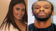 Samantha Josephson and Nathaniel Rowland. Rowland murdered Ms Josephson, who thought he was her Uber ride. Pic: Columbia Police