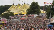 Festival goers at Latitude festival in Henham Park, Southwold, Suffolk. Picture date: Friday July 23, 2021.