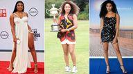 Megan Thee Stallion, Naomi Osaka, Leyna Bloom. Pics: Rob Latour/Sydney Low/CSM/Julien De Rosa/EPA-EFE/Shutterstock
