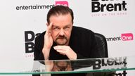 Ricky Gervais attending the world premiere of David Brent: Life On The Road at Leicester Square, London. PRESS ASSOCIATION Photo. Picture date: Wednesday 10th August, 2016. See PA Story SHOWBIZ Brent. Photo credit should read: Ian West/PA Wire.