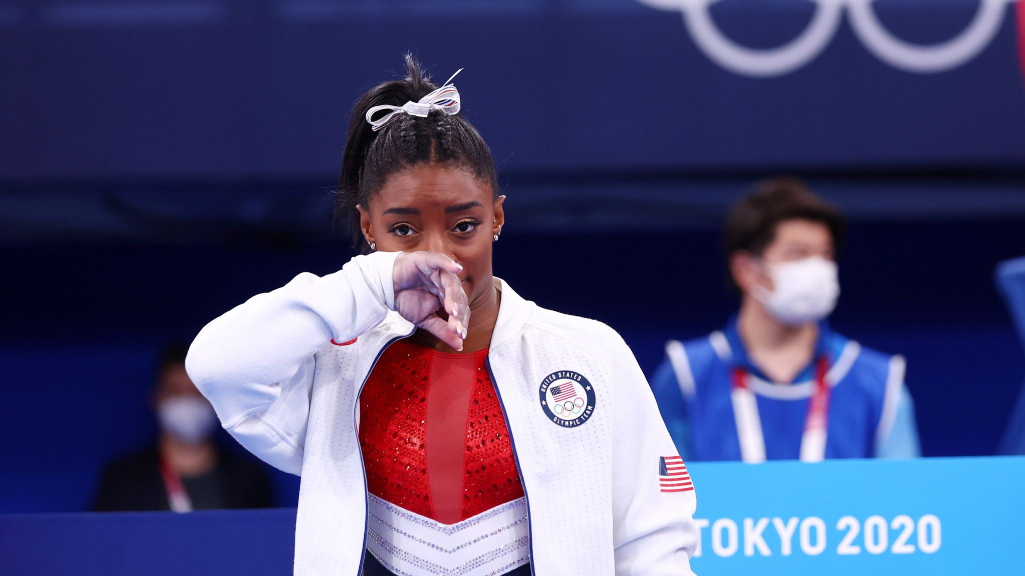 Tokyo Olympics: Simone Biles withdraws from gymnastics team final due to apparent injury   World News   Sky News