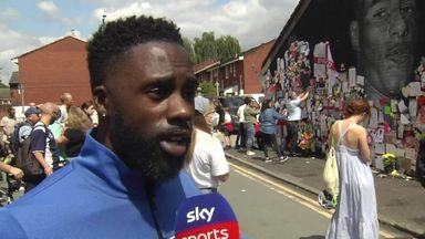 Family travel from Birmingham to show Rashford support