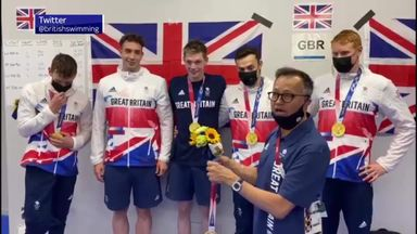 'What a moment!' Fifth GB relay swimmer collects gold