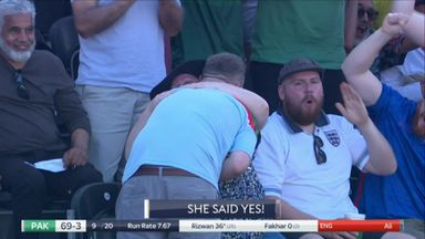 'She said yes!' - Proposal at the cricket!