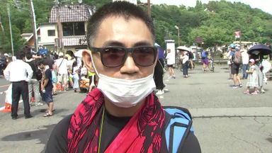 Japanese fans turn out for Olympic road race
