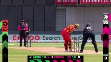 Wong loses bat and wicket!