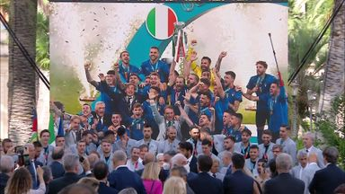 Italy squad congratulated by President!