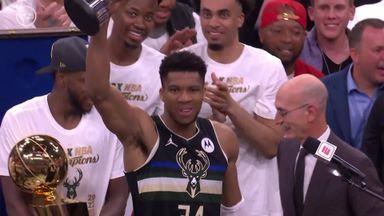 Giannis named Finals MVP