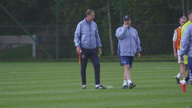 Benitez takes first Everton training session