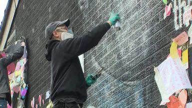 Rashford mural repaired by street artist