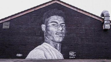 Fans transform defaced Rashford mural